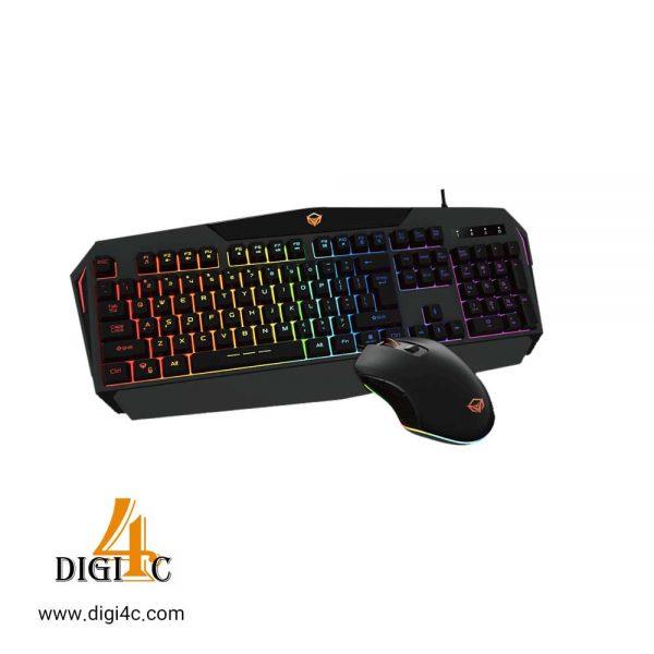 کیبورد و موس با سیم Rainbow Backlit Gaming Keyboard and Mouse C510