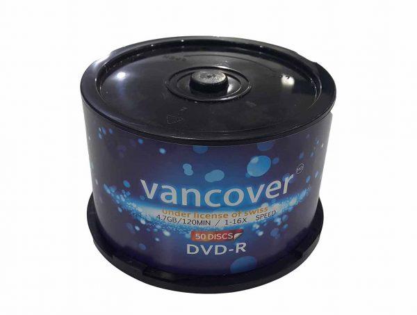 باکس دی وی دی خام ۵۰ عددی ونکوور – Vancover 4.7GB DVD-R |