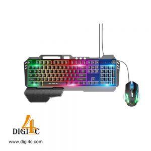 کیبورد و موس گیمینگ هوکو مدل hoco GM12 Wired Gaming Keyboard Mouse