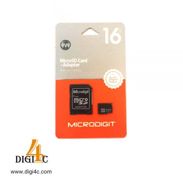 کارت حافظه میکرو microdigit 16gb class10