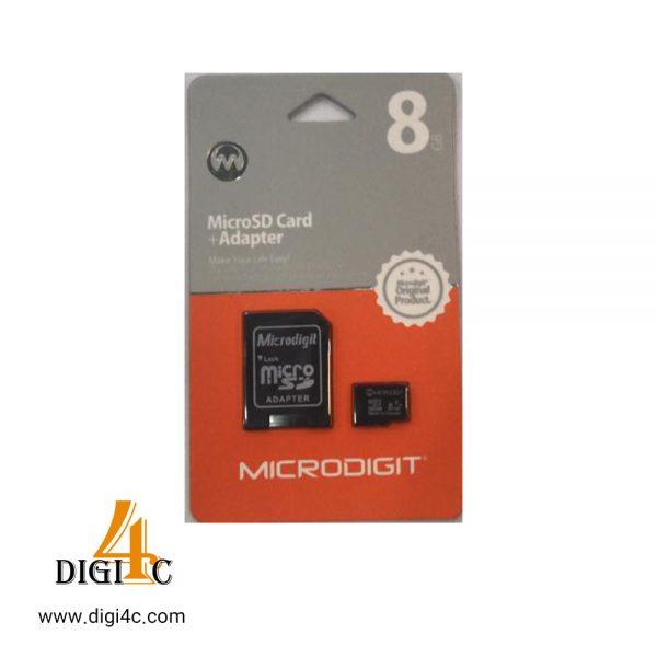 کارت حافظه میکرو microdigit 8gb class10